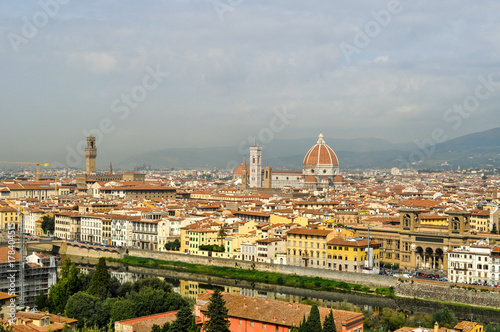 Deurstickers Toscane Look at Florence from the Piazzale Michelangelo