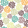 Cute brown green autumn flowers seamless pattern vector illustration white background - 178405773