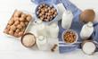 Alternative types of milks.