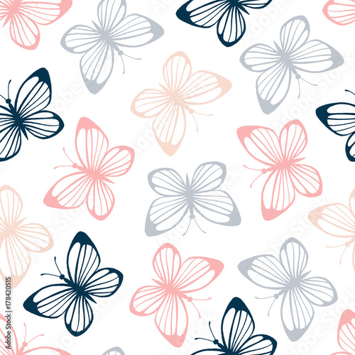 Seamless pattern with butterflies. - 178420515