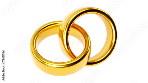 © PixlMakr - Fotolia.com Two linked gold wedding rings