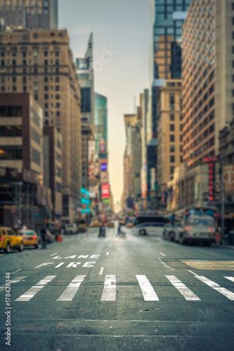 Foto op Plexiglas Havana Tilt-shift view of a crosswalk in a New-York city avenue, USA