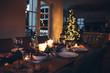 Dining table set for Christmas dinner - 178430125