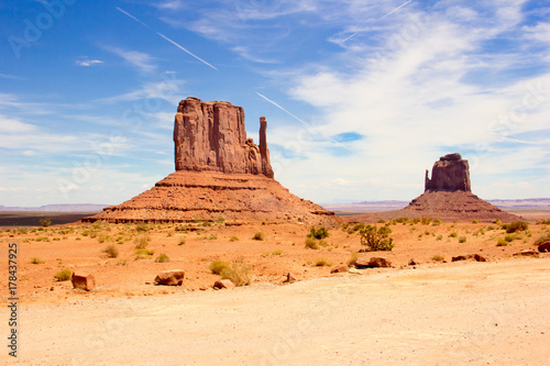 Poster Route 66 Monument Valley West Mitten Butte USA Amerika