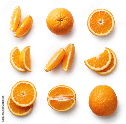 Fresh orange isolated on white background - 178439306