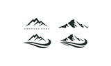 mountain peak logo template - 178442539