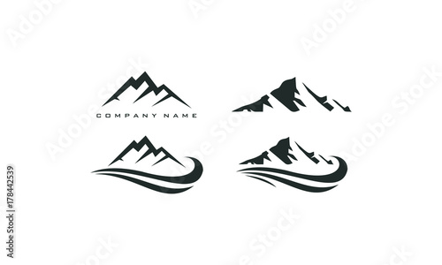 mountain peak logo template - 178442539