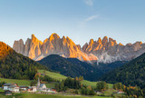 Autumn in the Alps. Funes Valley