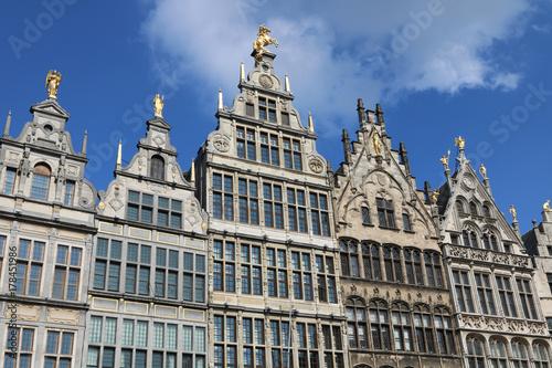 Fotobehang Antwerpen Antwerpen Belgien alte Häuser Architektur