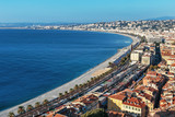 A general view of the promenade of Nice from the top point