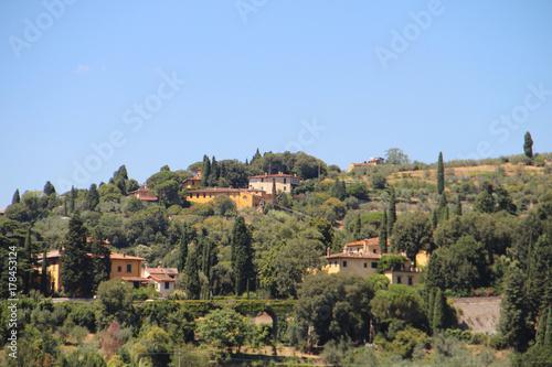 Deurstickers Toscane View of Fiesole, Italy
