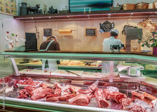 Plexiglas Nice butcher shop