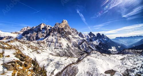 Fototapeta Winter Dolomites panorama