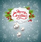 Christmas banner with green fir branch