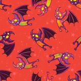 Cute hand drawn tribal bat pattern for Happy Halloween