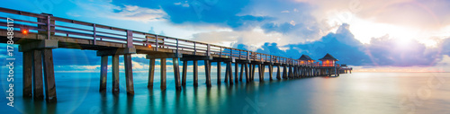 Sunset panorama on the pier, Florida - 178488117