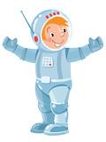Funny boy cosmonaut or astronaut - 178494766