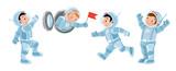 Funny boys. Cosmonaut or astronaut set