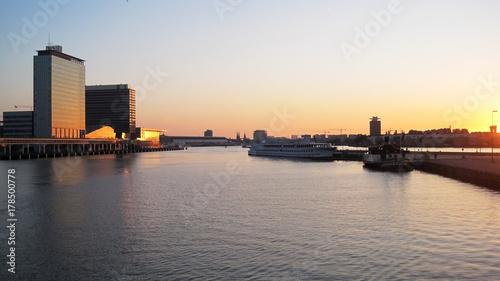 Fotobehang Amsterdam Sunset in Amsterdam