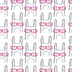 cute animal pattern vector illustration
