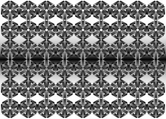 3d metal geometric pattern - Illustration, Wallpaper, Backgrounds, Pattern, Abstract Cube Shape, Geometric Shape, Shadow, Shape, Steps, design, fabric printing