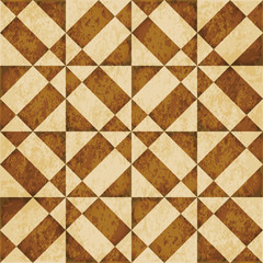 Retro brown watercolor texture grunge seamless background triangle square geometry