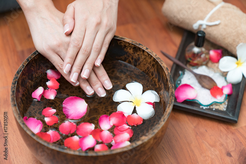 Staande foto Manicure Hand Spa Beautiful nails
