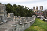 York Minster seen from the city walls, York, UK - 178523730