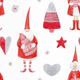 Nice watercolor christmas vector pattern