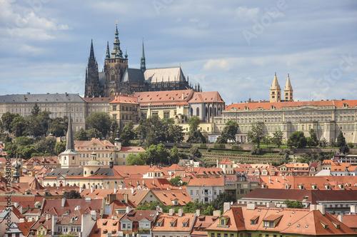 Praga - panorama w słońcu Poster