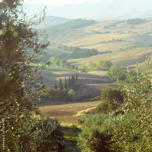 Papiers peints Toscane Tuscany, summer view, Italy, Europe. World Heritage Site by UNESCO.