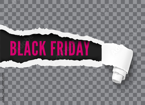 Black friday vector banner