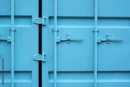 Fotobehang Rotterdam Blue cargo container