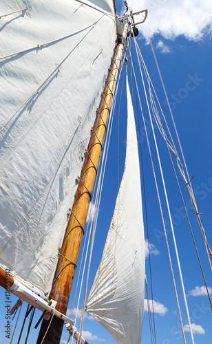 Keuken foto achterwand Schip Sails and rigging