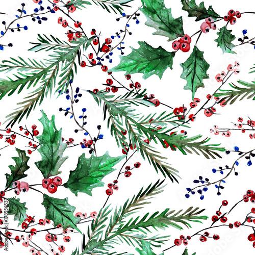 Cotton fabric winter seamless pattern