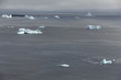 icebergs along coastline of Fogo Island, Newfoundland