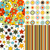 Set patterns for kids with stars, stripes, flowers and round shapes