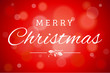 Red Soft Focus Merry Christmas Vector Horizontal Background 1
