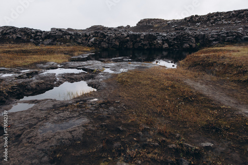 Fotobehang Diepbruine iceland