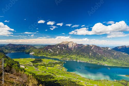 Foto op Canvas Bergen Panorama Wolfgangsee Salzkammergut