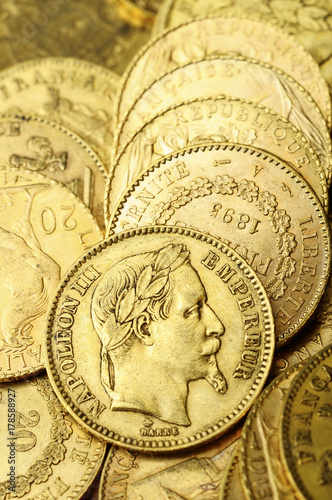 Gold french coin, Napoleon Poster