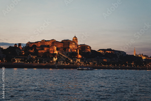 Night view of Buda Royal Castle, Budapest, Hungary Poster