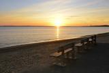Coucher de soleil sur l'océan à trois bancs