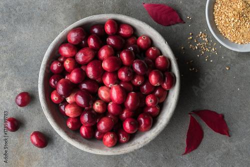 Cranberries and Orange Peel