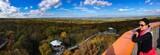 Blick auf den Baumkronenpfad im Nationalpark Hainich