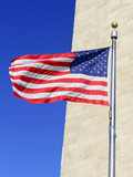 American Flags waving in the wind in patriotic concept - 178613742