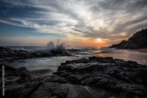 Foto op Canvas Zee zonsondergang Mermejita 02
