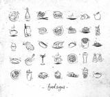 Food vintage icons - 178618967