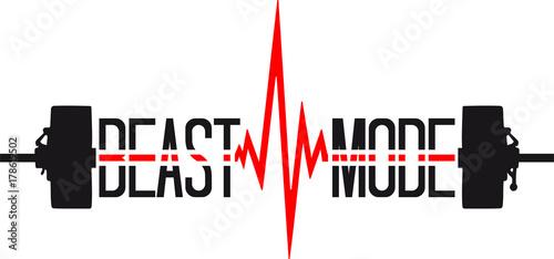 Sticker gewicht heben puls frequenz gym beast mode herzschlag hanteln bodybuilder