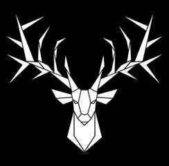 Vector design of deer's head